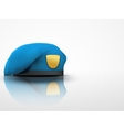 Light background military blue beret navy army vector