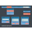 Business website elements vector