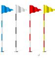 Golf flags vector