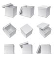 White boxes vector