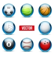 Set of glass icons sports themes for website or vector