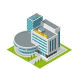 Cinema building isometric vector
