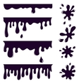 Blots splashes and smudges vector