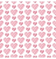 Romantic seamless pattern with hearts beautiful vector