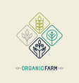 Agriculture and organic farm line logo vector
