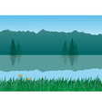 tranquil landscape vector