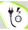 Plug and socket retro-style emblem icon pictogram vector