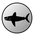 Shark button vector