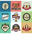 Beer retro labels vector