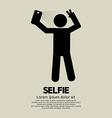 Selfie people sign vector