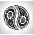 Abstract floral yin yang symbol vector
