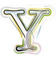 Organic font letter y vector