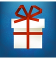 Hristmas gift made from paper stripe  eps8 vector