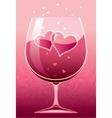 Wine of love vector