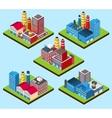 Industrial buildings isometric vector