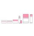 Tubes of lipstick and makeup vector