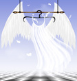 White wings of an angel vector