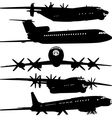 Collection of different airplane silhouettes for d vector