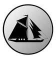 Ship button vector