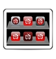 Tv red app icons vector