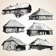 Set of buildings vector