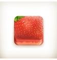 Strawberry app icon vector