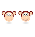 Monkey funny face vector