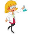 Female chemist vector
