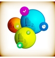 Abstract circles infographic colorful template vector