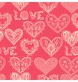 Seamless pink monochrome valentine pattern vector