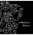 Abstract background with flowers in black and vector