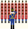 Wooden soldiers army vector