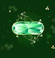 Emerald banner vector
