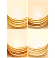 Set gold fabric curtain vector
