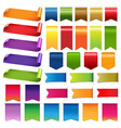 Colorful ribbons and label big set vector