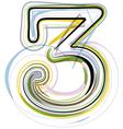 Organic font number 3 vector