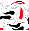 Seamless wallpaper with chili pepper vector