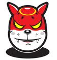 Cute red fire element cartoon monster vector