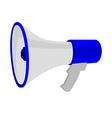 Blue megaphone vector