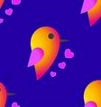 Bird sparrow st valentines day seamless pattern vector