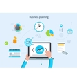 Concept with icons set of modern business working vector