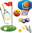 Set of sport symbols vector
