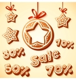 Christmas cakes sale discount vector