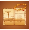 Jesus christ on cross on good friday bible vector
