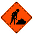 Men at work sign vector