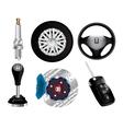 Car elements vector