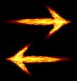 Two fire arrows vector