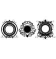 Set of ornamental shields vector