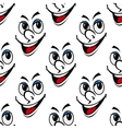 Happy smiling face seamless background pattern vector