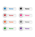 Home buttons vector